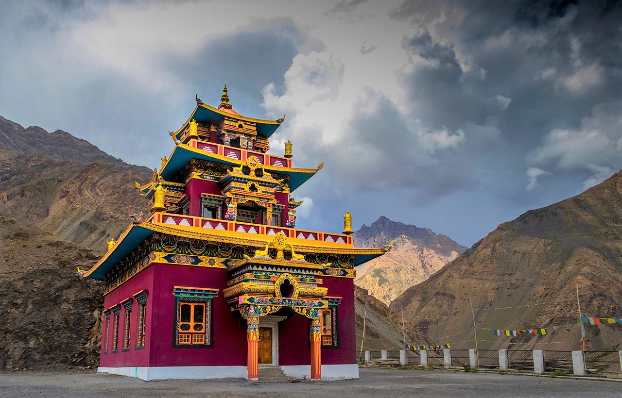 Gue monastery complex in Spiti Valley
