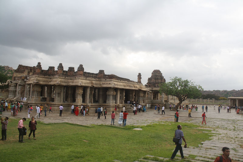 Vitthal Temple premises Hampi