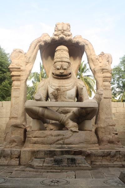 Urga Narashimha Statue Hampi
