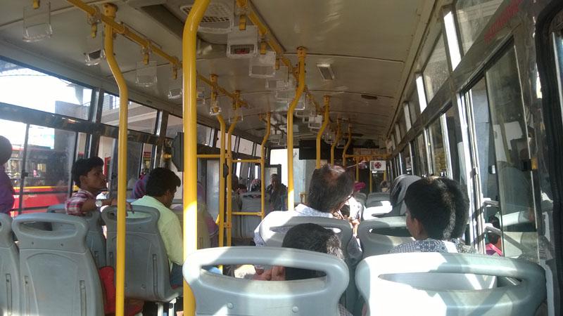 Bus Shuttle plying from Hosapete railway station to Hampi