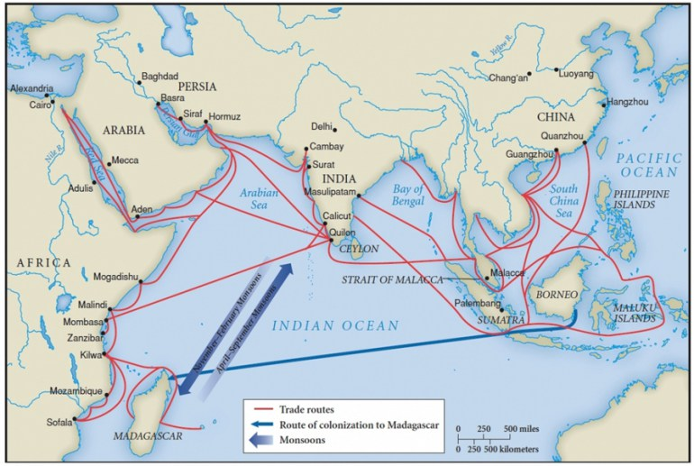 ancient kerala_trade-routes-map