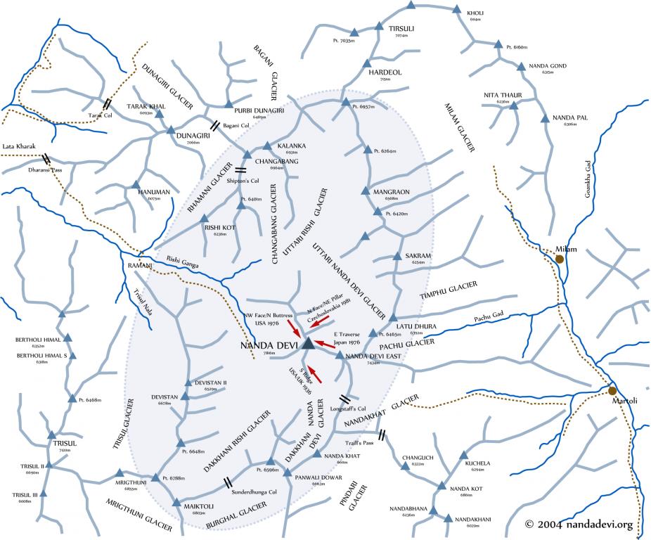 Trek map nandadevi peaks.png