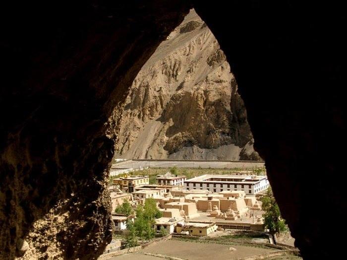 Tabo Caves overlooking Tabo Monastery